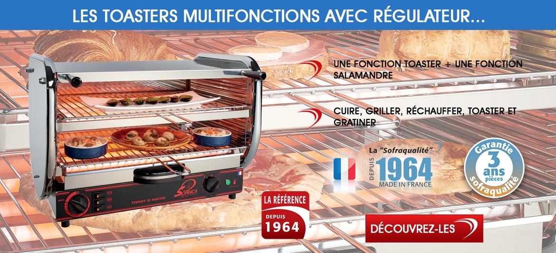 Toasters multifonctions avec régulateurs