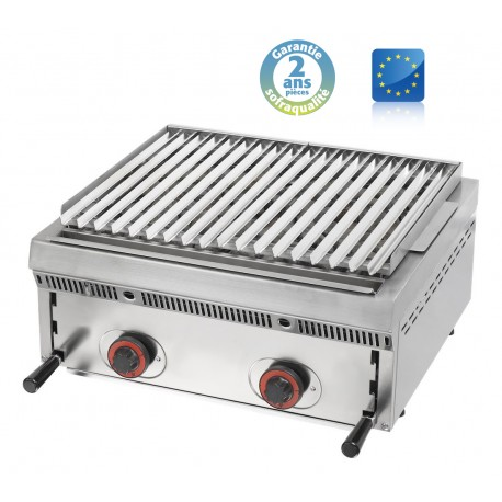 Wood steack grill gaz réglable - L 600 mm