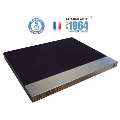 Plaque chauffante vitrocéramique - 400 x 600 - Bords droits - 30052