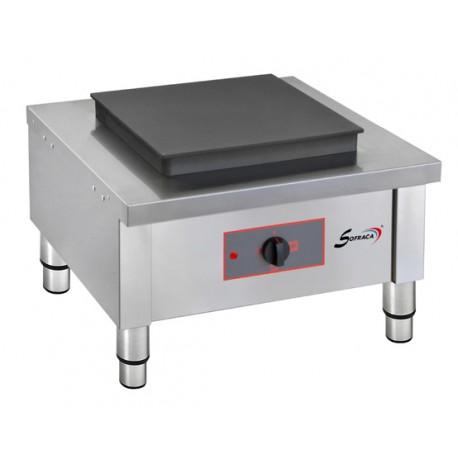 Réchaud électrique - 1 plaque carré 400 x 400 mm - 27144XXL