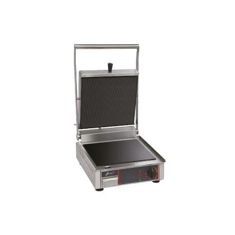 Grill vitrocéramique électrique simple - Plaques inf. lisse et sup. rainurée - 10192VRL