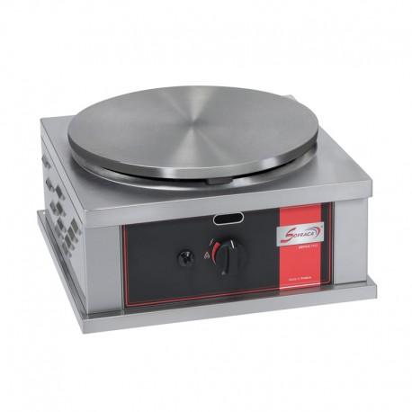 Crêpière gaz carrée professionnelle à usage intensif - Version simple - Diamètre 40 mm - CR1CG40