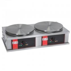 Crêpière électrique carrée professionnelle à usage intensif - Version double - Diamètre 40 mm - CR2CE40