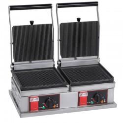 Grill panini double - Petit modèle - 4 plaques - PPM2