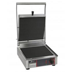 Grill vitrocéramique électrique simple - Plaques inf. et sup. rainurée - 10192VRR