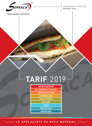 Couv catalogue SOFRACA 2019