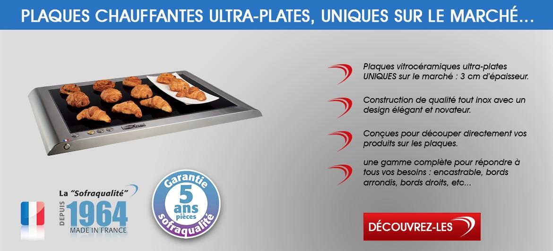 Plaques chauffantes ultra-plates vitrocéramiques