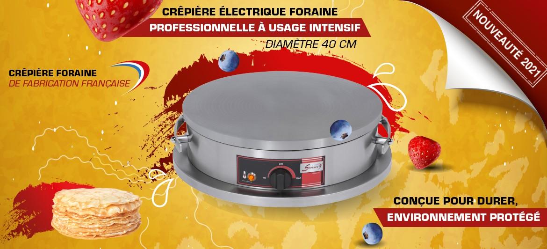 Crêpière électrique foraine professionnelle à usage intensif